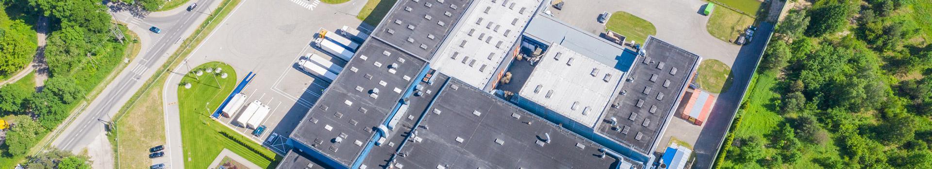 Widok fabryki z góry